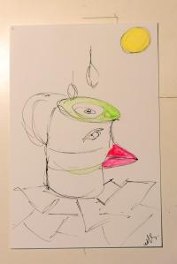 The coffecup bird